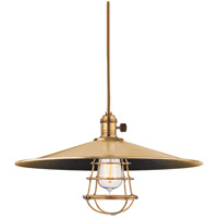Heirloom 1 Light 17 inch Aged Brass Pendant Ceiling Light in ML1, Yes