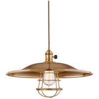 Hudson Valley Lighting Heirloom 1 Light Pendant in Aged Brass with Wire Bulb Guard 8002-AGB-ML2-WG