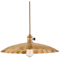 Heirloom 1 Light 17 inch Aged Brass Pendant Ceiling Light in ML3, No