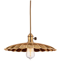 Hudson Valley 8002-AGB-MM3 Heirloom 1 Light 14 inch Aged Brass Pendant Ceiling Light in MM3, No