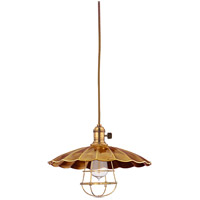 Hudson Valley Lighting Heirloom 1 Light Pendant in Aged Brass 8002-AGB-MS3-WG
