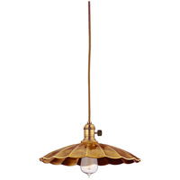 Heirloom 1 Light 10 inch Aged Brass Pendant Ceiling Light in MS3, No