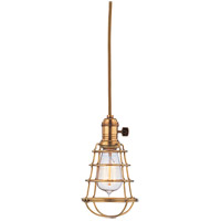 Hudson Valley Lighting Heirloom 1 Light Pendant in Aged Brass 8002-AGB-WG