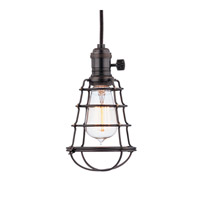 Hudson Valley Lighting Heirloom 1 Light Pendant in Old Bronze with Wire Bulb Guard 8002-OB-WG