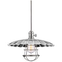 Hudson Valley 8002-PN-MM3-WG Heirloom 1 Light 14 inch Polished Nickel Pendant Ceiling Light in MM3 Yes