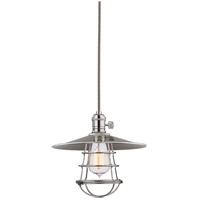 Hudson Valley Lighting Heirloom 1 Light Pendant in Polished Nickel with Wire Bulb Guard 8002-PN-MS1-WG