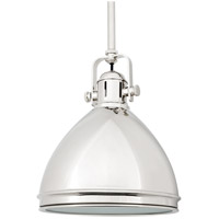 Hudson Valley Lighting Marion 1 Light Pendant in Polished Nickel 8008-PN