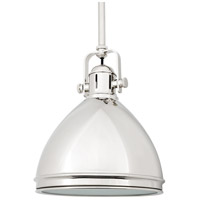 Hudson Valley 8008-PN Marion 1 Light 8 inch Polished Nickel Pendant Ceiling Light photo thumbnail