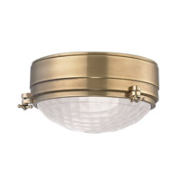 Hudson Valley Lighting Belmont 2 Light Flush Mount in Aged Brass 8009-AGB