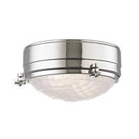 Hudson Valley Lighting Belmont 2 Light Flush Mount in Polished Nickel 8009-PN