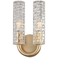 Hudson Valley 8010-AGB Dartmouth 2 Light 6 inch Aged Brass Wall Sconce Wall Light