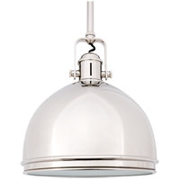 Hudson Valley Lighting Marion 1 Light Pendant in Polished Nickel 8011-PN