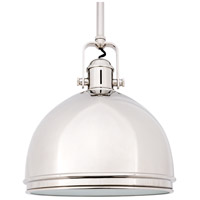 Hudson Valley 8011-PN Marion 1 Light 11 inch Polished Nickel Pendant Ceiling Light