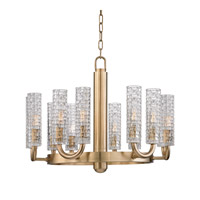 Hudson Valley 8012-AGB Dartmouth 12 Light 25 inch Aged Brass Chandelier Ceiling Light