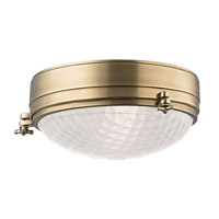 Hudson Valley Lighting Belmont 2 Light Flush Mount in Aged Brass 8013-AGB