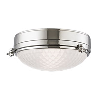 Hudson Valley Lighting Belmont 2 Light Flush Mount in Polished Nickel 8013-PN