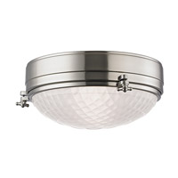 Hudson Valley Lighting Belmont 2 Light Flush Mount in Satin Nickel 8013-SN