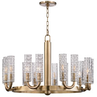 Hudson Valley 8016-AGB Dartmouth 16 Light 31 inch Aged Brass Chandelier Ceiling Light