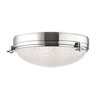 Hudson Valley Lighting Belmont 3 Light Flush Mount in Polished Nickel 8017-PN
