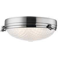 Hudson Valley Lighting Belmont 3 Light Flush Mount in Satin Nickel 8017-SN