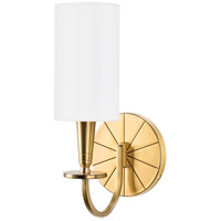 Hudson Valley Lighting Mason 1 Light Wall Sconce in Aged Brass 8021-AGB photo thumbnail