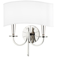 Hudson Valley 8022-PN Mason 2 Light 14 inch Polished Nickel Wall Sconce Wall Light photo thumbnail