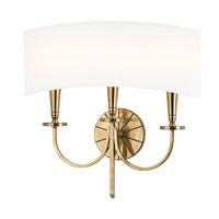 Hudson Valley 8023-AGB Mason 3 Light 17 inch Aged Brass Wall Sconce Wall Light alternative photo thumbnail