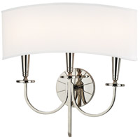 Hudson Valley 8023-PN Mason 3 Light 17 inch Polished Nickel Wall Sconce Wall Light photo thumbnail
