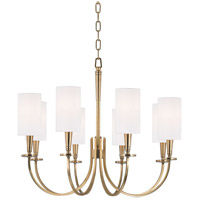 Hudson Valley 8028-AGB Mason 8 Light 27 inch Aged Brass Chandelier Ceiling Light