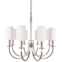 Hudson Valley Lighting Mason 8 Light Chandelier in Polished Nickel 8028-PN