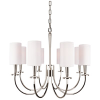 Hudson Valley 8028-PN Mason 8 Light 27 inch Polished Nickel Chandelier Ceiling Light photo thumbnail