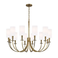 Mason 12 Light 35 inch Aged Brass Chandelier Ceiling Light