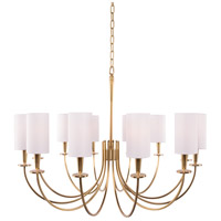 Hudson Valley 8032-AGB Mason 12 Light 35 inch Aged Brass Chandelier Ceiling Light