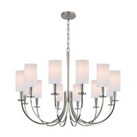 Mason 12 Light 35 inch Polished Nickel Chandelier Ceiling Light