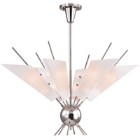 Cooper LED 32 inch Polished Nickel Chandelier Ceiling Light, Opal Matte