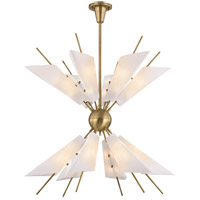 Hudson Valley 8069-AGB Cooper LED 32 inch Aged Brass Chandelier Ceiling Light, Opal Matte