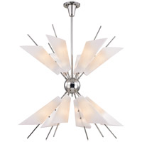 Hudson Valley 8069-PN Cooper LED 32 inch Polished Nickel Chandelier Ceiling Light Opal Matte