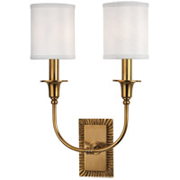 Hudson Valley 8082-AGB Dover 2 Light 12 inch Aged Brass Wall Sconce Wall Light