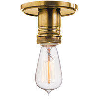 Heirloom 1 Light Aged Brass Semi Flush Ceiling Light in No