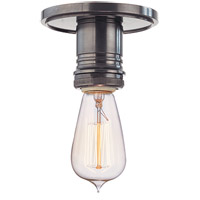 Hudson Valley 8100-HN Heirloom 1 Light Historic Nickel Semi Flush Ceiling Light in No