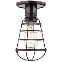 Hudson Valley Lighting Heirloom 1 Light Semi Flush in Old Bronze 8100-OB-WG