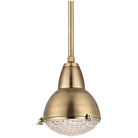 Belmont 1 Light 11 inch Aged Brass Pendant Ceiling Light