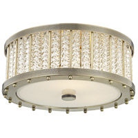 Shelby 3 Light 16 inch Aged Brass Flush Mount Ceiling Light