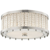 Shelby 3 Light 16 inch Polished Nickel Flush Mount Ceiling Light