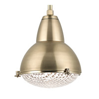 Hudson Valley Lighting Belmont 1 Light Pendant in Aged Brass 8117-AGB