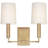 Clinton 2 Light 11 inch Aged Brass Wall Sconce Wall Light