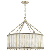 Hudson Valley 8125-AGB Shelby 8 Light 28 inch Aged Brass Pendant Ceiling Light