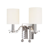 Bolton 2 Light 13 inch Polished Nickel Wall Sconce Wall Light