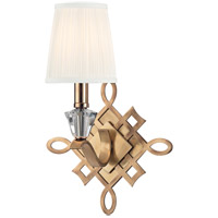 Hudson Valley Lighting Fowler 1 Light Wall Sconce in Aged Brass 8181-AGB