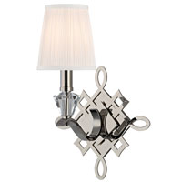 Hudson Valley Lighting Fowler 1 Light Wall Sconce in Polished Nickel 8181-PN